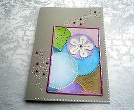 Papiernictvo - Pohľadnica - kvietky - 12701047_