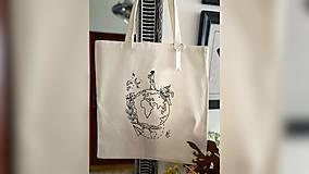 Nákupné tašky - ♥ Plátená, ručne maľovaná taška ♥ - 12701167_