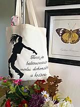 Nákupné tašky - ♥ Plátená, ručne maľovaná taška ♥ - 12701236_