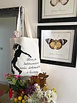 Nákupné tašky - ♥ Plátená, ručne maľovaná taška ♥ - 12701238_