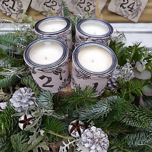 Adventné sviečky - sada 4 ks