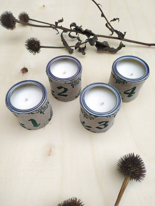 Adventné sviečky III. - sada 4 ks
