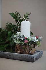 Svietidlá a sviečky - Vianočný svietnik snehový - 12703762_