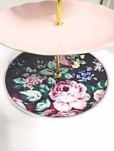 Nádoby - Etažér - ružová pivonka - 12700781_