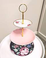 Nádoby - Etažér - ružová pivonka - 12700782_