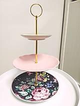 Nádoby - Etažér - ružová pivonka - 12700783_