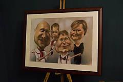 Obrazy - Farebná karikatúra Rodina - 12703423_