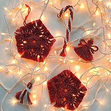 Dekorácie - Vianočné ozdoby sada 5 ks červeno-zlatá - 12704425_