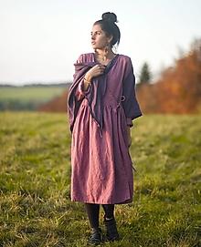 Šaty - Lněné zavinovací laRose - 12700852_