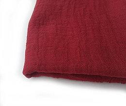 """Šály - """"deep red"""" bavlnený šál skladom:-) - 12700773_"""
