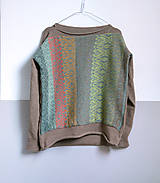 Svetre/Pulóvre - hnedý pulover vzorovaný - 12702608_