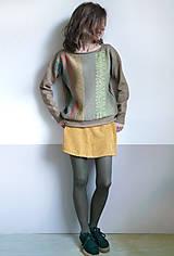 Svetre/Pulóvre - hnedý pulover vzorovaný - 12702609_