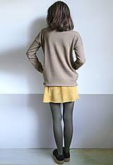 Svetre/Pulóvre - hnedý pulover vzorovaný - 12702610_
