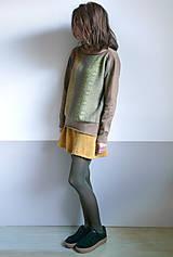 Svetre/Pulóvre - hnedý pulover vzorovaný - 12702611_