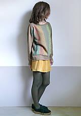Svetre/Pulóvre - hnedý pulover vzorovaný - 12702622_