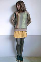 Svetre/Pulóvre - hnedý pulover vzorovaný - 12702624_