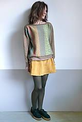 Svetre/Pulóvre - hnedý pulover vzorovaný - 12702625_