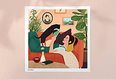 - Doma - umělecký tisk, 30 × 30 - 12705189_