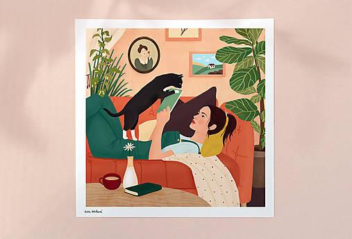 Doma - umělecký tisk, 30 × 30