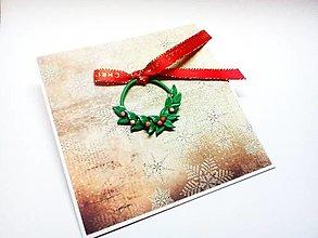 Papiernictvo - Pohľadnica ... vianočný venček - 12707563_