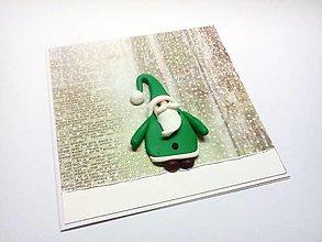 Papiernictvo - Pohľadnica ... vianočný škriatok - 12707615_