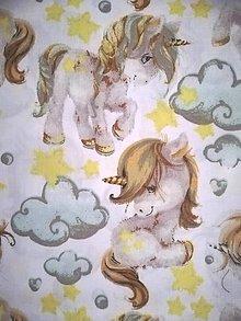 Úžitkový textil - MOJKÁČIK - Detský mojkací vankúšik na spanie s vôňou levandule (Jednorožce) - 12706084_