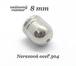 Komponenty - Kaplík - koncovka 8mm /M3555/- nerezová oceľ 304 - 12708933_
