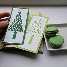 Papiernictvo - Stromček tmavý zelený... - 12706231_