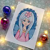 Kresby - Víla zimných nocí_fine art print - 12707283_