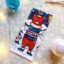 Papiernictvo - Vianočný medvedík - knižná záložka - 12707977_