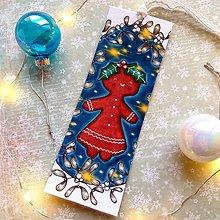 Papiernictvo - Vianočná Medovníčka - knižná záložka - 12708012_