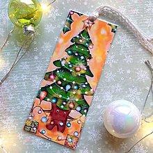Papiernictvo - Vianočný stromček - knižná záložka - 12708021_
