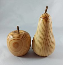 Dekorácie - smrekovcové jablko a hruška - 12708210_
