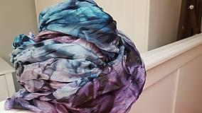 Šály - Šál fialková v tůni, 180x90 cm - 12704878_