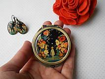Zrkadielka - V tajomnej záhrade (zrkadielko + náušničky) - 12707265_