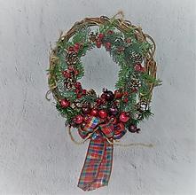 Dekorácie - Veniec vianočný 49 - zimný - 12708247_