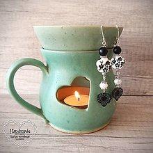 Náušnice - Elegantné kvetinkové náušnice, čierna.. - 12705670_