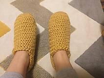 Obuv - Hackovane papuce z extra 100% baby bavlny - 12707274_