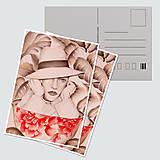"""Papiernictvo - Umelecká pohľadnica """"Coffee dreamer"""" - 12705215_"""