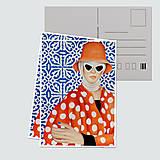 """Papiernictvo - Umelecká pohľadnica """"Incognito"""" - 12705225_"""