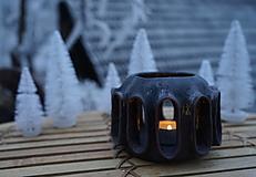 Svietidlá a sviečky - Keramický svietnik - 12706918_