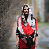 Šatky - Origo maxi šatka kvety - limit - 12708462_