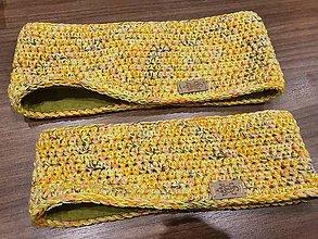 Čiapky - Melírovaná čelenka žltooranžová - 12706356_