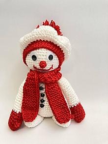 Hračky - snehuliak sediaci  s baretkou - 12708332_