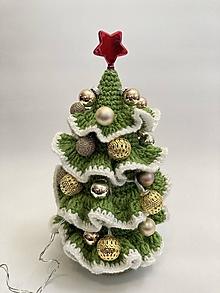 Dekorácie - Vianočný stromček Svietiaci s dekoráciami - 12708579_