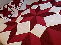 Úžitkový textil - Dvojposteľová deka - Christmas star - 12711324_
