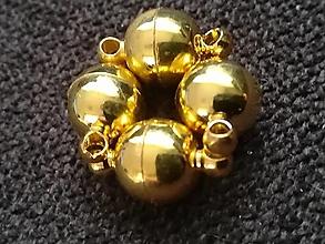 Komponenty - Magnetické zapinanie 13x8mm /guľa  (Zlatá) - 12710462_