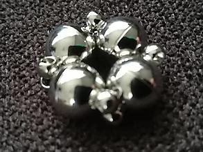 Komponenty - Magnetické zapinanie 13x8mm /guľa  (Strieborná) - 12710497_