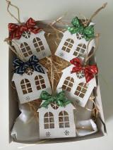 Dekorácie - Drevene Vianocne ozdoby - 12710821_