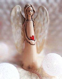 Dekorácie - Socha anjel... - 12711076_